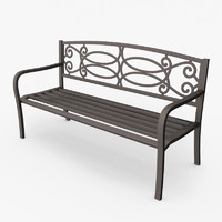 max metallic garden bench