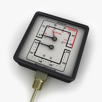 water steam pressure gauge 3d max