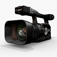 canon xha1 video 3d model