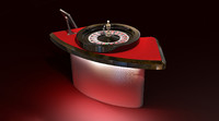 3dsmax casino roulette table