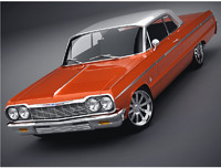 3d 3ds chevrolet impala coupe 1964