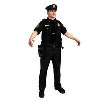 3d max police officer