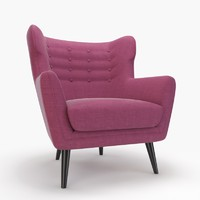 kubrick lounge armchair 3d max