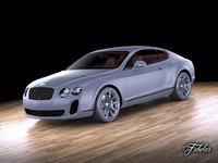 bentley continental supersport 3d max
