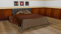 bedroom set bed 3d max