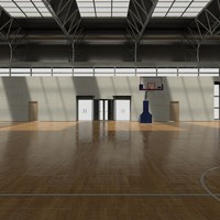 basketball court 3d fbx