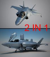 fighter usaf pilot 3d model