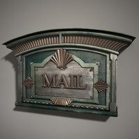 residence mail box 3d model