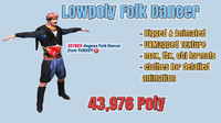 3d model folk dance player zeybek