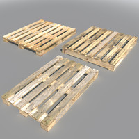 3d model wood pallets