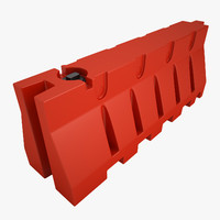 Plastic Jersey Barricade 01