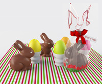 easter composition 3d max