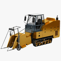 sugar cane harvester 3d lwo