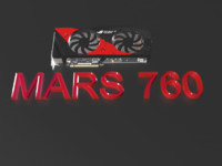3d model graphics card mars 760