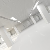 interior office shell 3d max