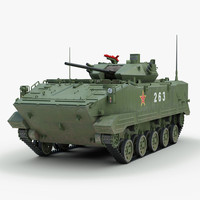 3ds max chinese zlc2000 combat vehicle