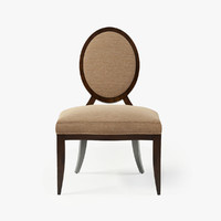 OVAL X-BACK DINING SIDE CHAIR