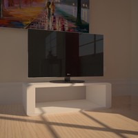 3ds max lg television set