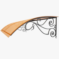 3d wrought iron awning
