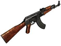 3d model ak-47 ak