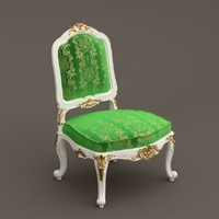 3d model baroque armchair