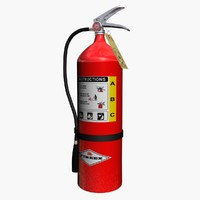 3d extinguisher model