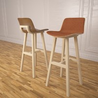 3d kuskoa bar stool alki model