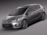 2013 2014 hatchback kia 3d model