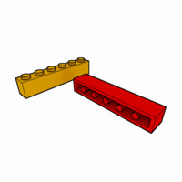 piece lego brick 1x6 3ds