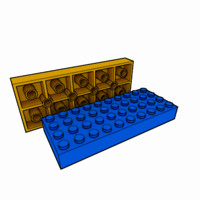 3d model piece lego brick 4x10