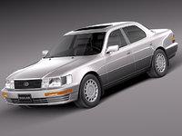 japan sedan 1989 luxury 3d model