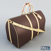 3d louis vuitton keepall 55 model