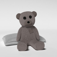 stuffed teddy bear pillow 3d 3ds