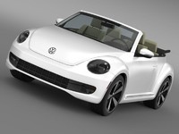 3d model beetle turbo cabrio
