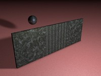 wall knocked ball 3d model