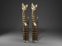 3d scan cat sculpture model