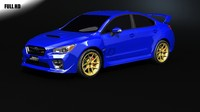 3d model of subaru wrx sti