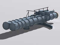 dta-53 torpedo tube 3d 3ds