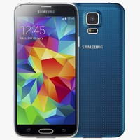 3d model samsung galaxy s5 blue