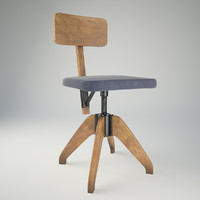 3d max wood chair