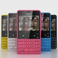 nokia asha 210 colours 3d model
