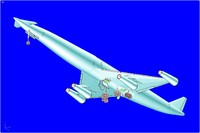 3d lapcat a2 hypersonic aircraft model