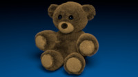 3d stuffed bear model