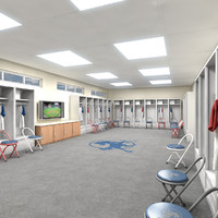 lockers room 3d model