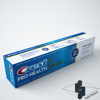 3d model crest pro health toothpaste