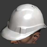3d hard hat safety model