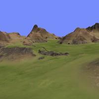 3d max metay terrain km-10