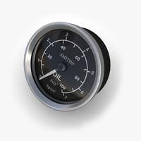 3dsmax oil pressure gauge