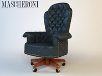 3d model luxury armchair mascheroni
