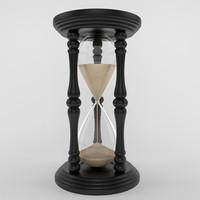 3d hourglass hour model
